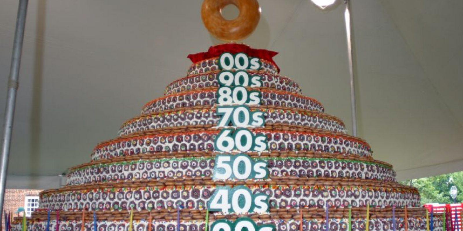 Pastel de donas más grande Foto:Getty images