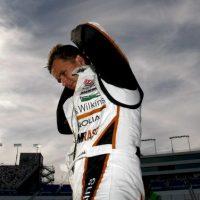 Dan Wheldon, piloto de IndyCar, murió en octubre de 2011 tras un choque masivo durante una prueba en el circuito Motor Speedway de Indianápolis. Foto:Getty Images