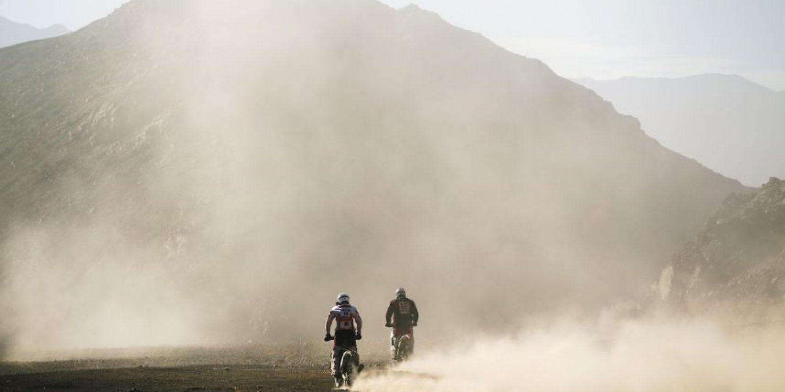 En 2014 murió el motociclista belga Eric Palante de Honda en el trayecto que va de Chilecito a Tucumán. Foto:Getty Images