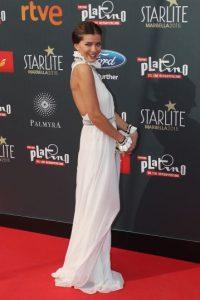 """La expareja coincidió en la alfombra roja de los """"Premios Latino"""" Foto:Getty Images"""