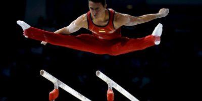 El colombiano obtuvo tres oros en barra fija, barras paralelas y caballo con arzones Foto:Getty Images