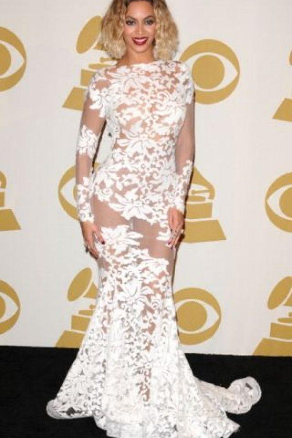 Beyoncé en los premios Grammy en 2014 Foto:Getty Images
