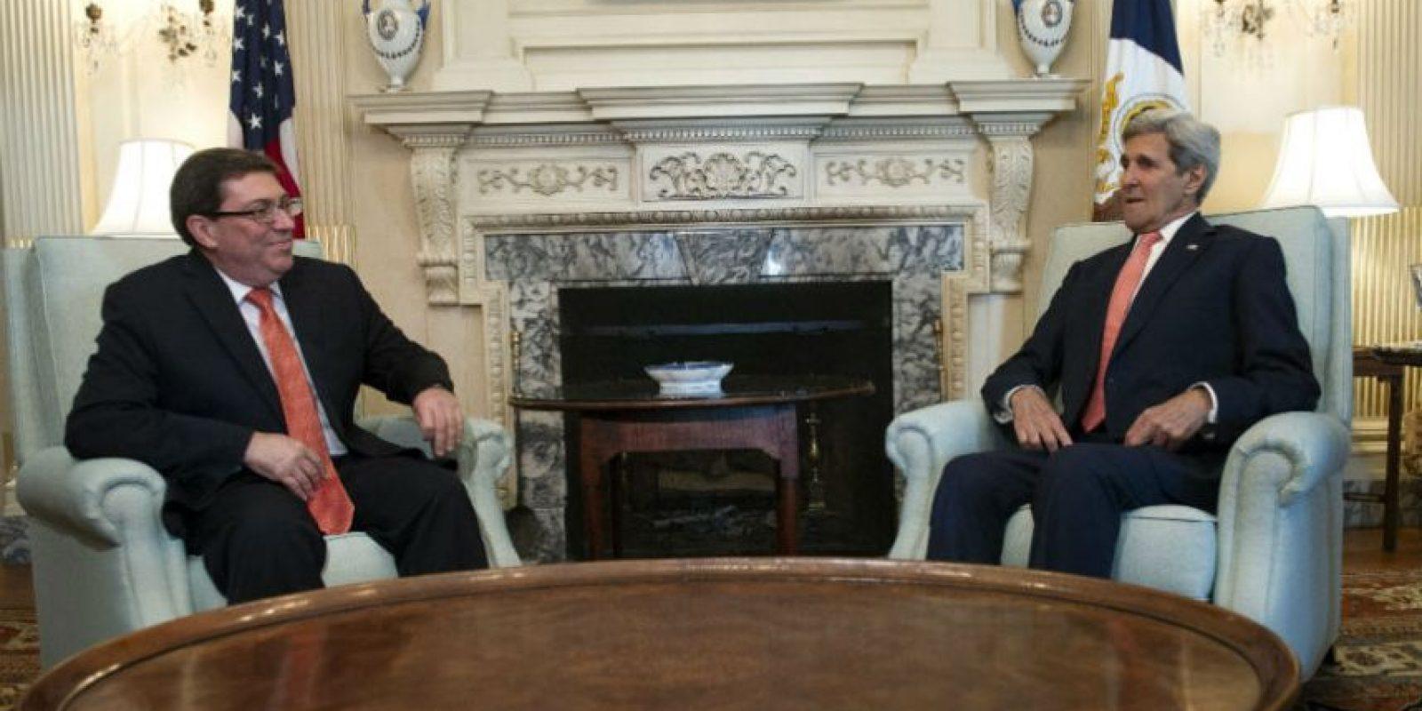 Sin embargo, se mostraron muy alegres por el gran paso que habían dado ambos países. Foto:AP