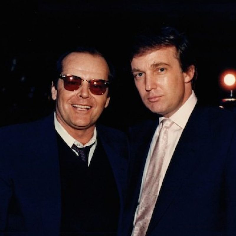 Con el actor Jack Nicholson Foto:Instagram.com/RealDonaldTrump