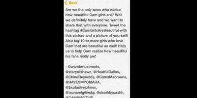 """En un arranque sentimental, quiso nombrar a sus fans como """"Camgirls"""" (chicas de Cameron) y mostrar lo hermosas que son. Foto:vía Twitter"""