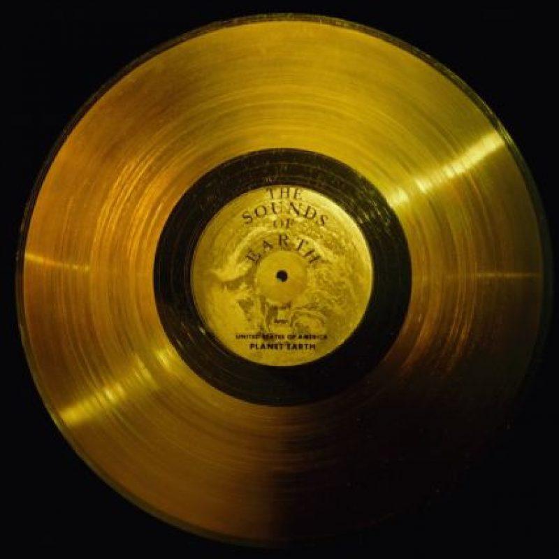 2. El disco de oro de las Voyager Foto:Wikimedia.org