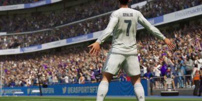 El festejo de Cristiano Ronaldo en el FIFA 16. Foto:EA Sports