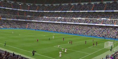 El Santiago Bernabéu celebrando un gol ante el Barcelona en el FIFA 16. Foto:EA Sports