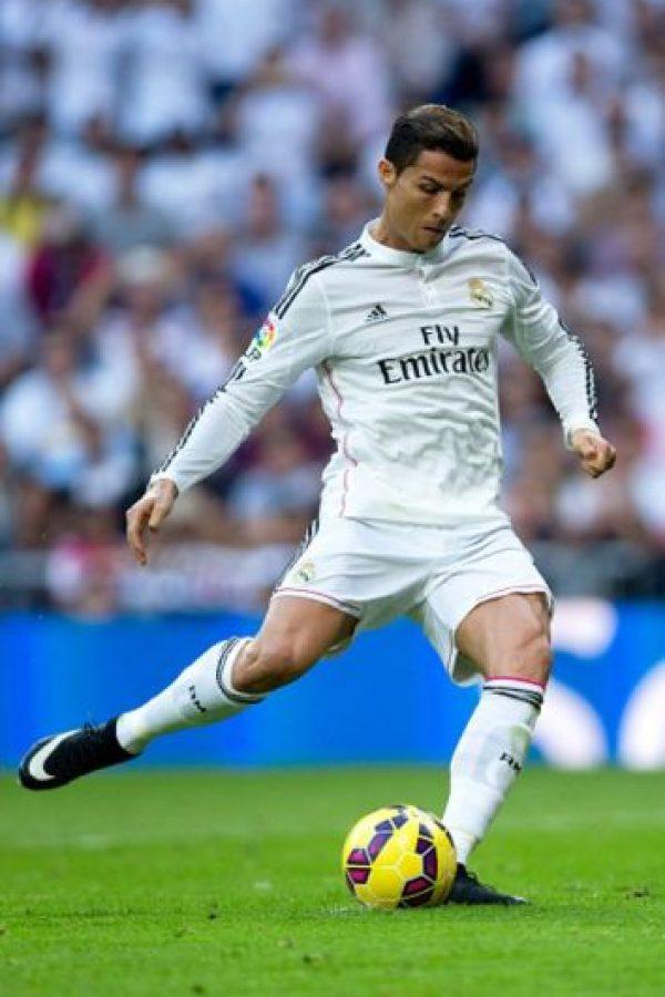 Los tiros libres de Cristiano Ronaldo en la vida real. Foto:Getty Images