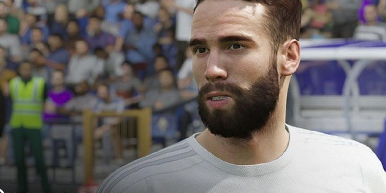 Dani Carvajal en el FIFA 16. Foto:EA Sports