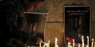 Las imágenes de la muerte de iloto jordano Mu'ath al-Kaseasbeh le dieron la vuelta al mundo Foto:Getty Images