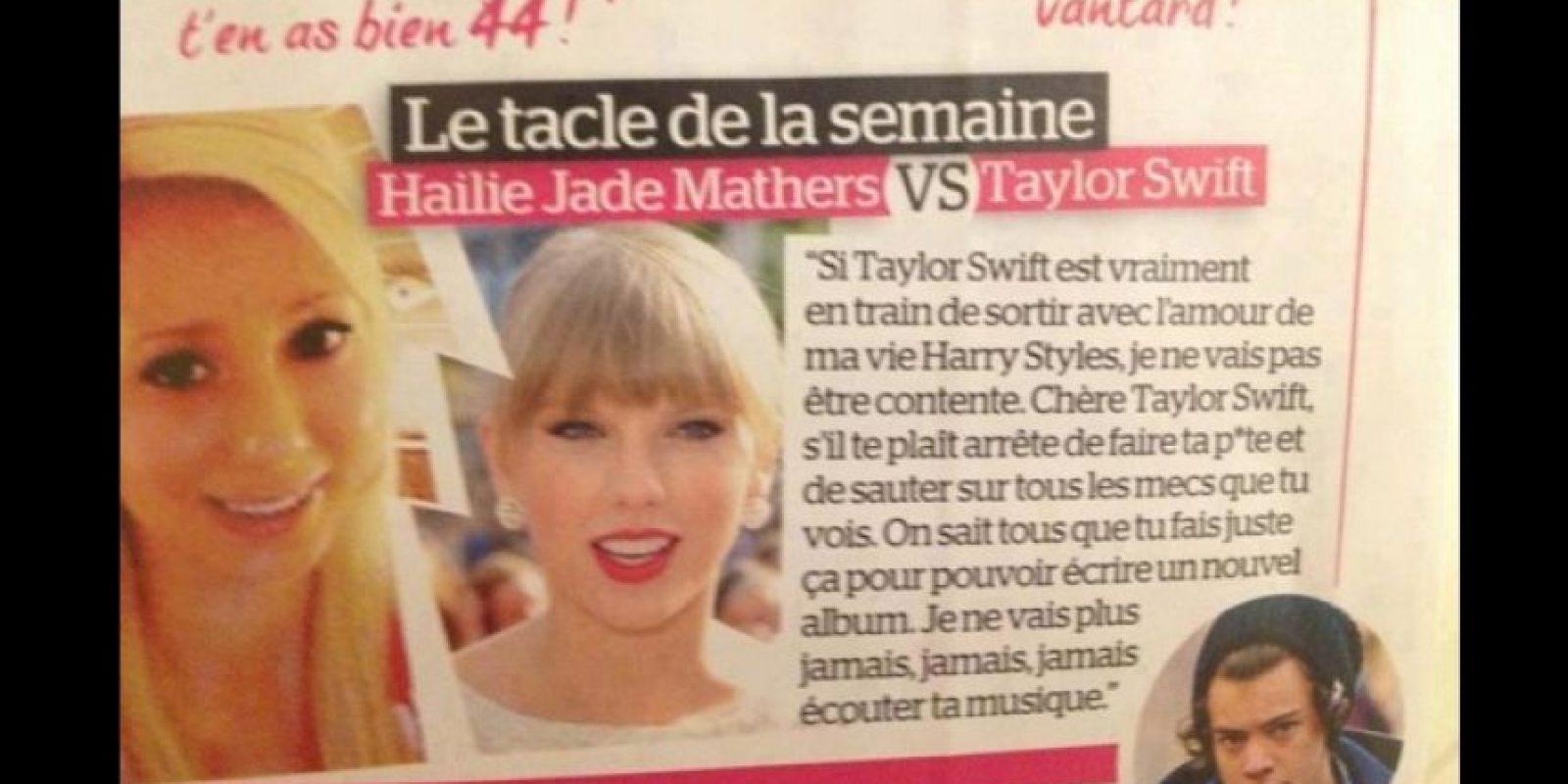 "Hailie Mathers, hija de Eminem"", criticó a Taylor por salir con Harry Styles. Foto:Twitter"