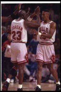 Pippen ganó seis anillos de la NBA, todos ellos con los Bulls (1991, 1992, 1993, 1996, 1997 y 1998). Foto:Getty Images