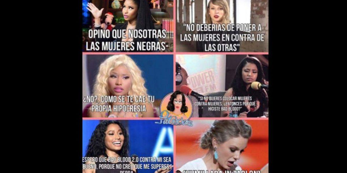 FOTOS: Así destrozan a Nicki Minaj y a Taylor Swift por su