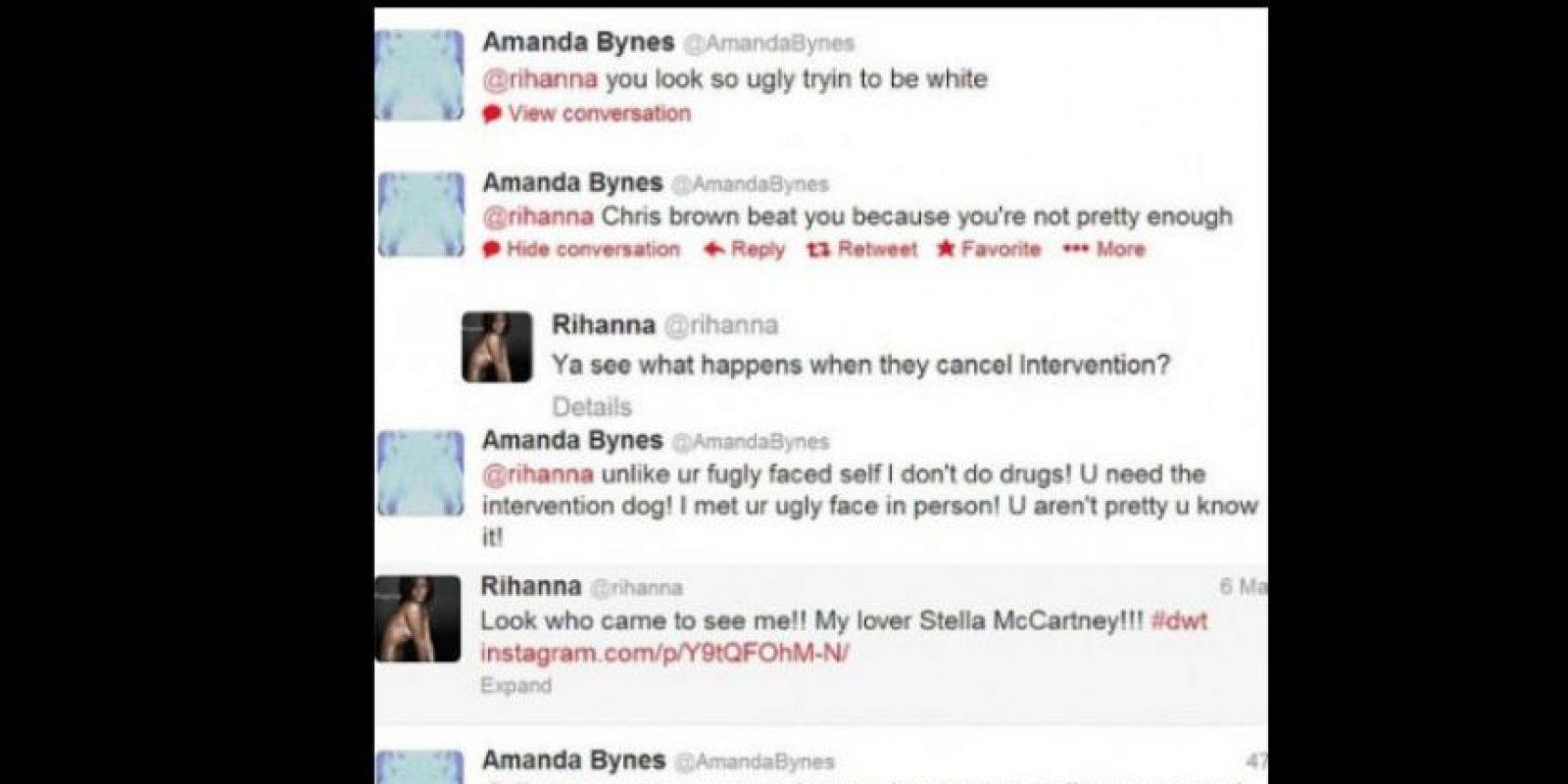 """Le dijo a Rihanna que por """"fea"""" Chris Brown le pegó."""