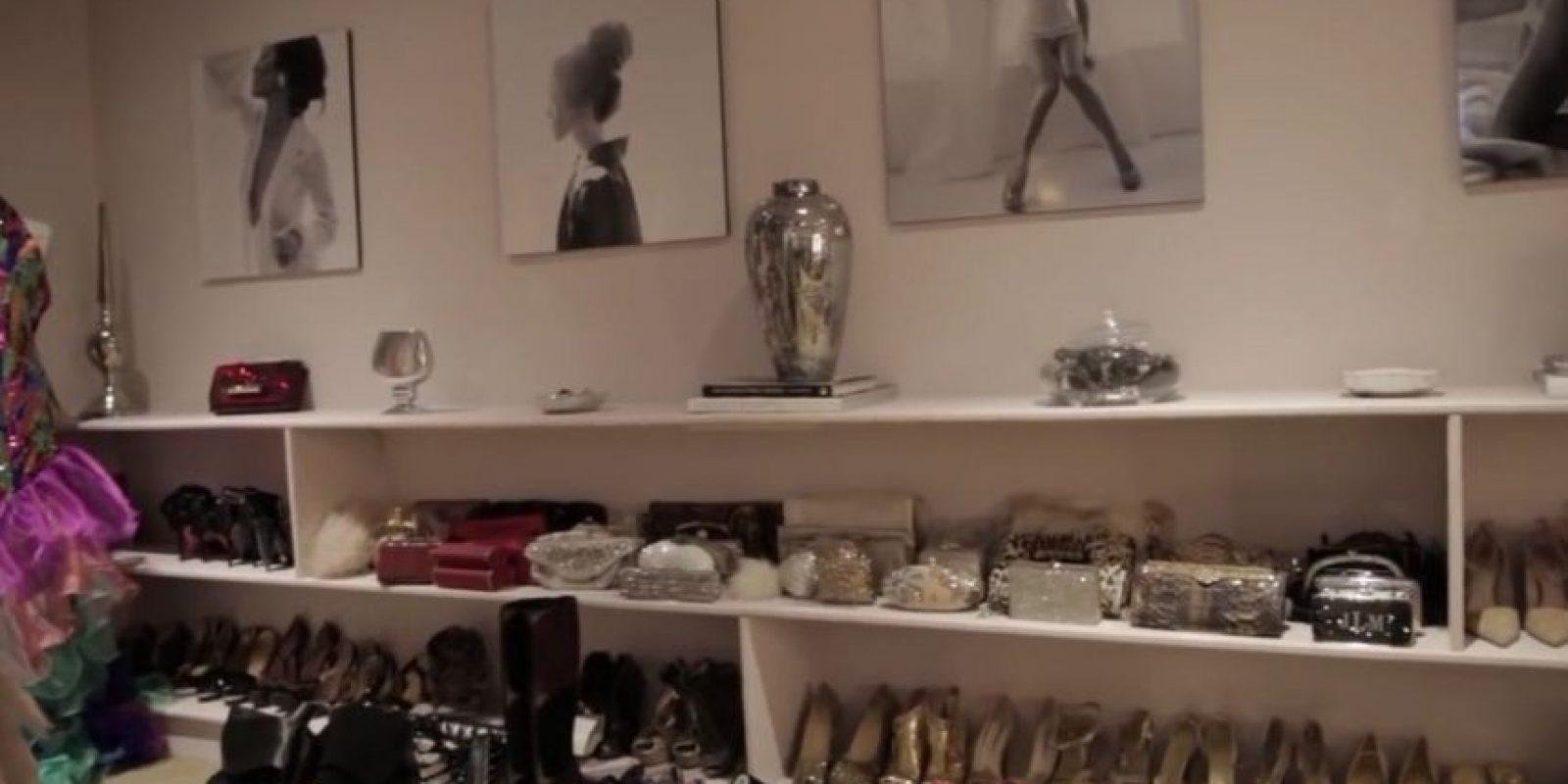 Además de una gran colección de zapatos Foto:People