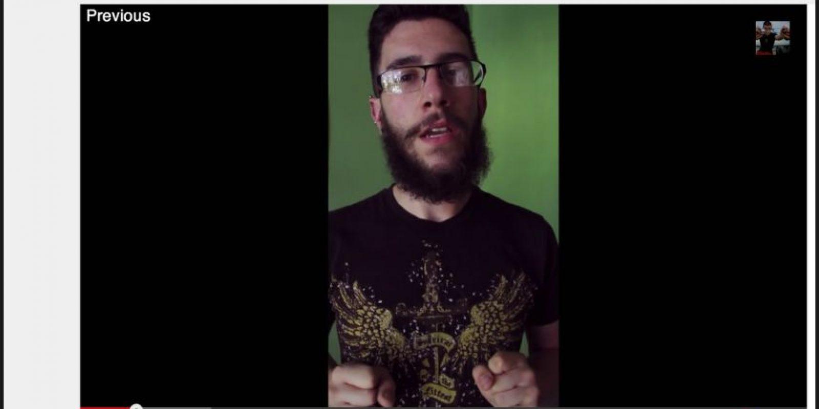 Así era la vista de los video grabados verticalmente Foto:YouTube