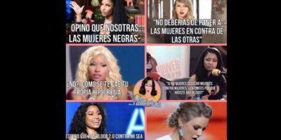 """Sobre todo, porque nadie entiende cómo critica Taylor a Nicki si ella le dedicó """"Bad Blood"""" a Katy Perry. Foto:vía Twitter"""