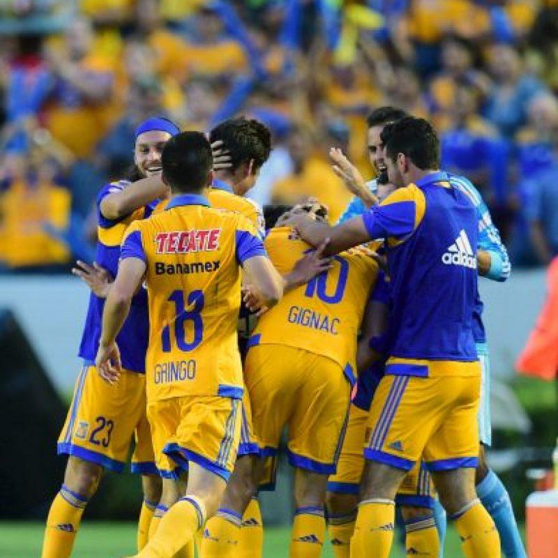 Tigres clasificó como primer lugar de grupo. Foto:AFP