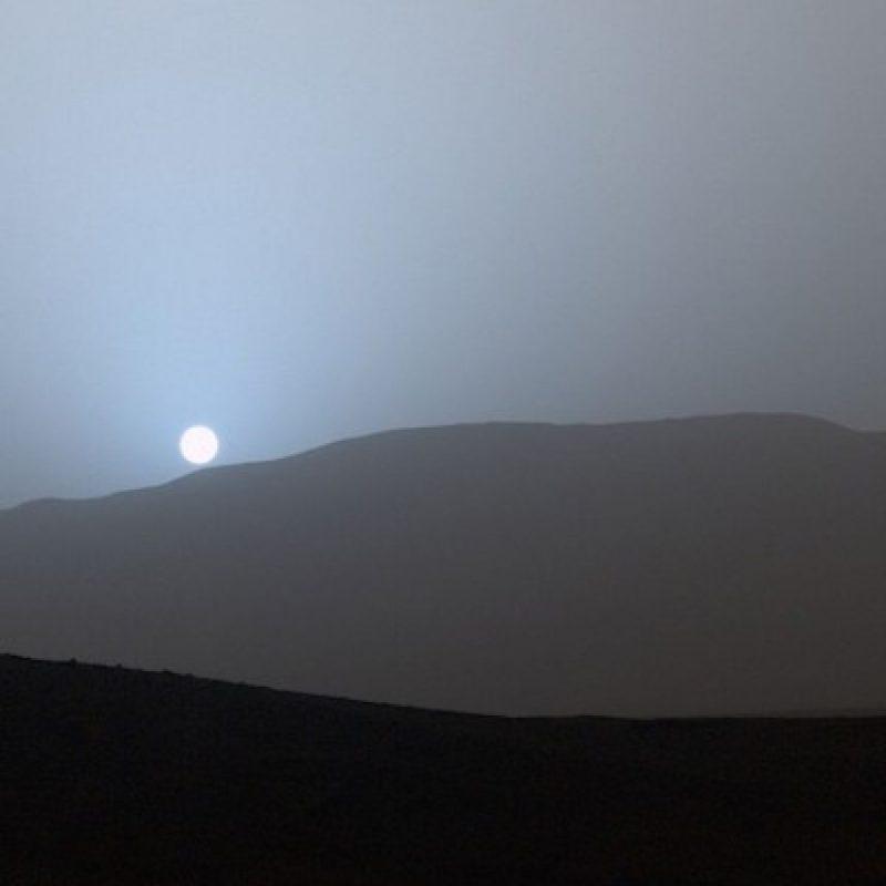 Un atardecer azul en Marte, tomada por el robot Curiosity en abril de 2015 Foto:Instagram.com/NASA