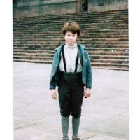 """Así lucía en su primer día de grabación para el telefilme """"David Copperfield"""" de 1999 Foto:vía plus.google.com/+DanielRadcliffe"""