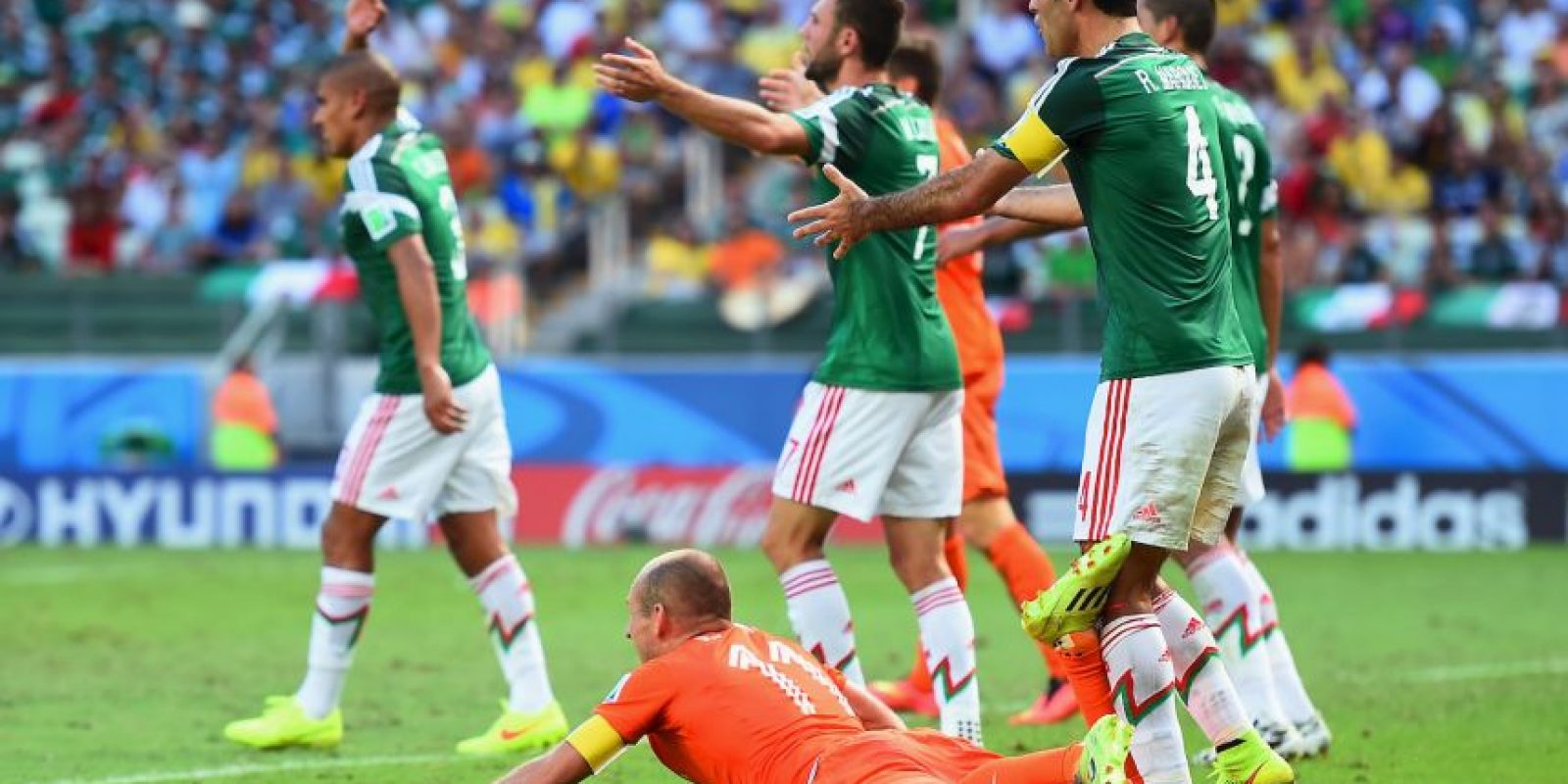 5. Holanda vs. México Foto: Getty Images