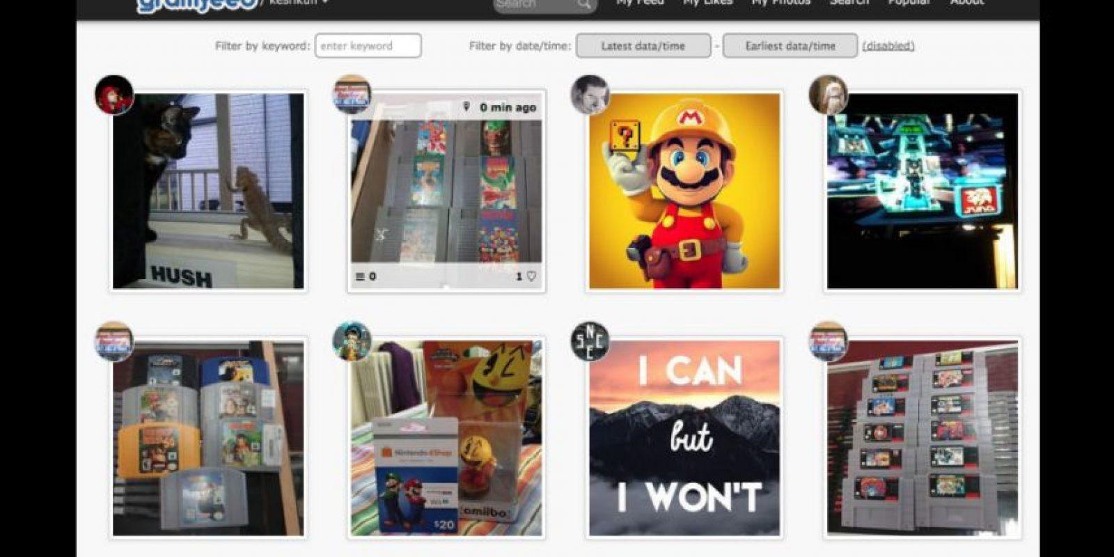 Su buscador facilita encontrar rápidamente dentro de la aplicación fotos populares, etiquetas, nuevos usuarios, fotos de acuerdo a su ubicación en Google Maps Foto:gramfeed.com/
