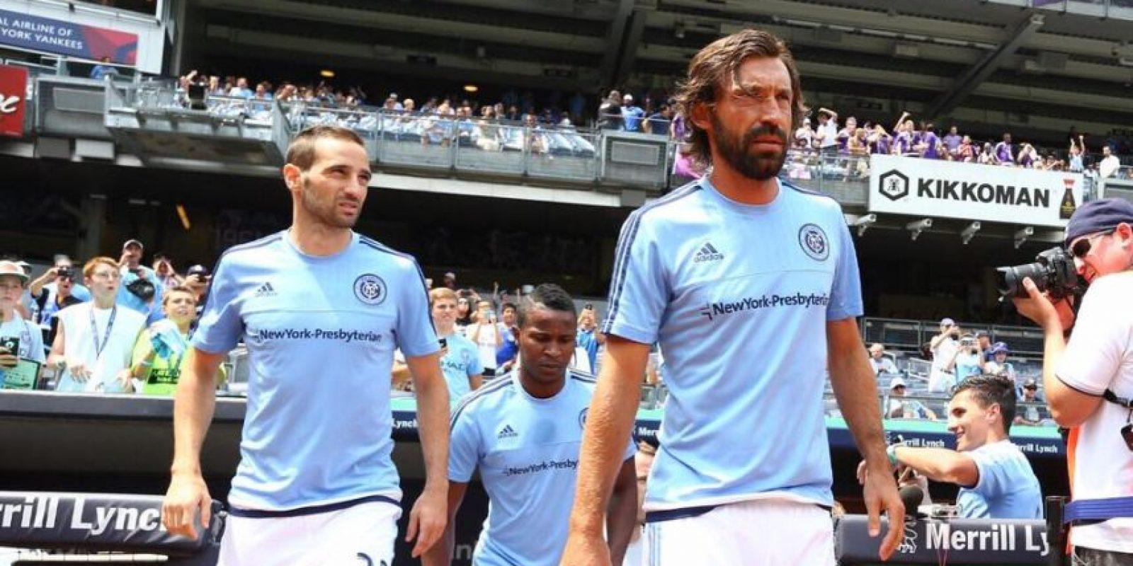 El mediocampista italiano apareció en el partido entre New York City FC y Orlando City. Foto:Vía facebook.com/newyorkcityfc