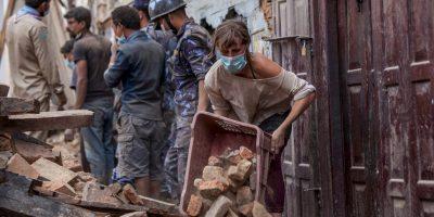 El pasado 25 de abril un terremoto de magnitud 7.8 sacudió a Nepal. Foto:Getty Images