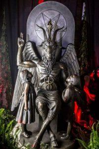 La estatua mide dos metros y medio de altura y pesa una tonelada Foto:Facebook.com/TheSatanicTempleDetroit