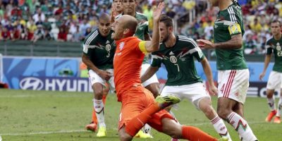 Claro. Arjen Robben en Brasil 2014 contra México. Foto:Getty Images