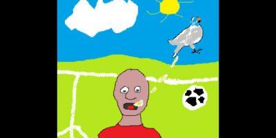 ¿A quien defecó un pájaro en pleno partido? Foto:reddit.com