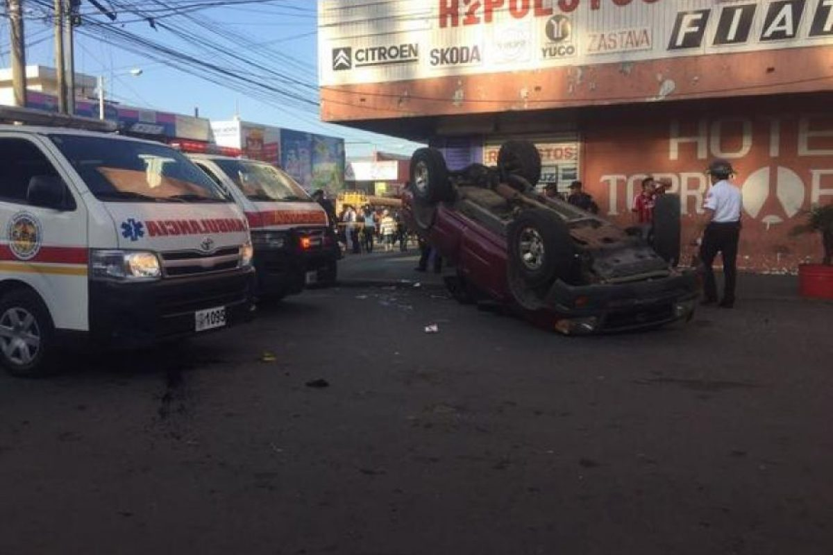 El accidente Foto: CVB