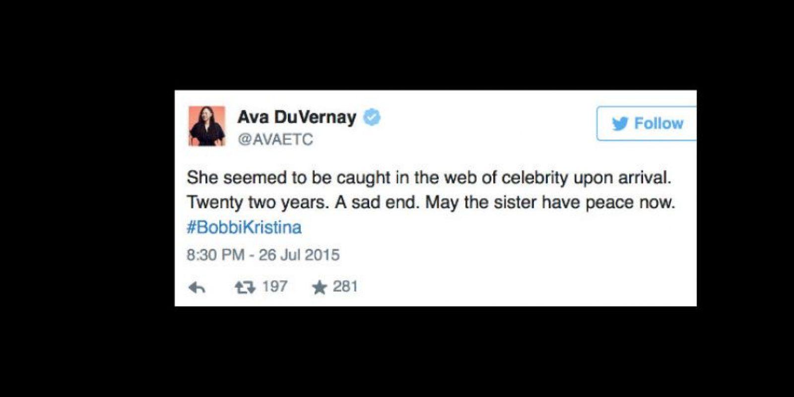 """La actriz Ava Du Vernay: """"Parecía atrapada. Que la hermana descanse en paz"""". Foto:vía Twitter"""