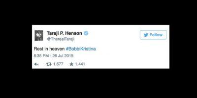 """La actriz Taraji P. Henson: """"Descansa en el cielo"""". Foto:vía Twitter"""