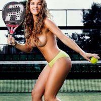 Además de ser campeona mundial, Celeste Paz ha sido presentadora de televisión y modelo. Foto:Interviú