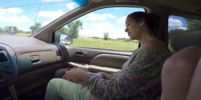 4. Madre da a luz en un automóvil Foto:YouTube/i8thacookies
