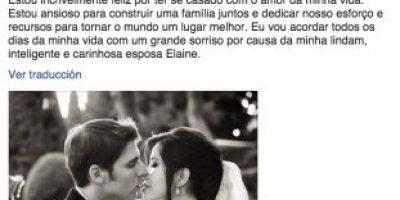 Cofundador de Facebook confirmó su matrimonio en la red social