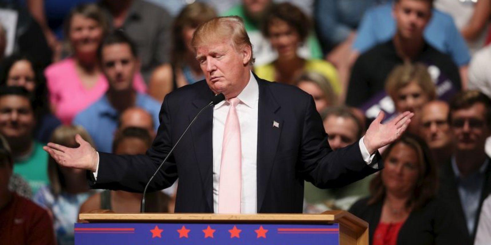 Trump se encuentra al frente de los 16 precandidatos republicanos con el 18% de popularidad. Foto:Getty Images