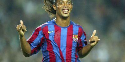 Es Ronaldinho en el Barcelona. Foto:Getty Images