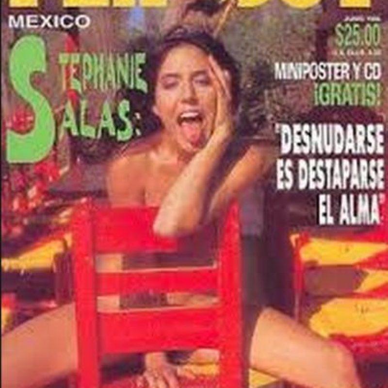 Stephanie Salas, hija de la actriz Silvia Pasquel y nieta de la actriz Silvia Pinal Foto:Playboy