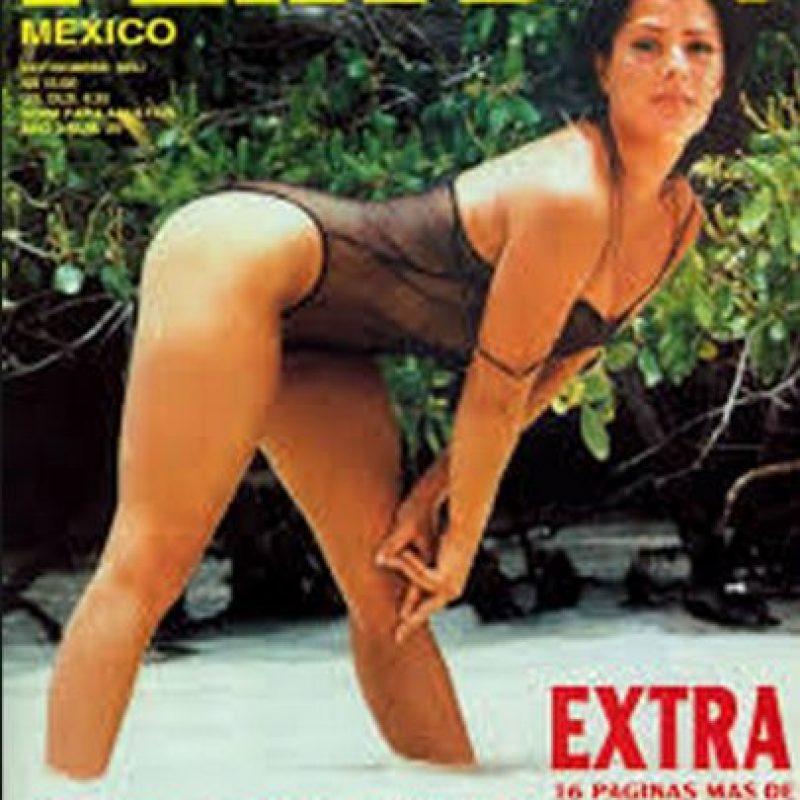 Alejandra Guzmán, hija de la actriz mexicanaSilvia Pinal y el cantante azteca Enrique Guzmán Foto:Playboy