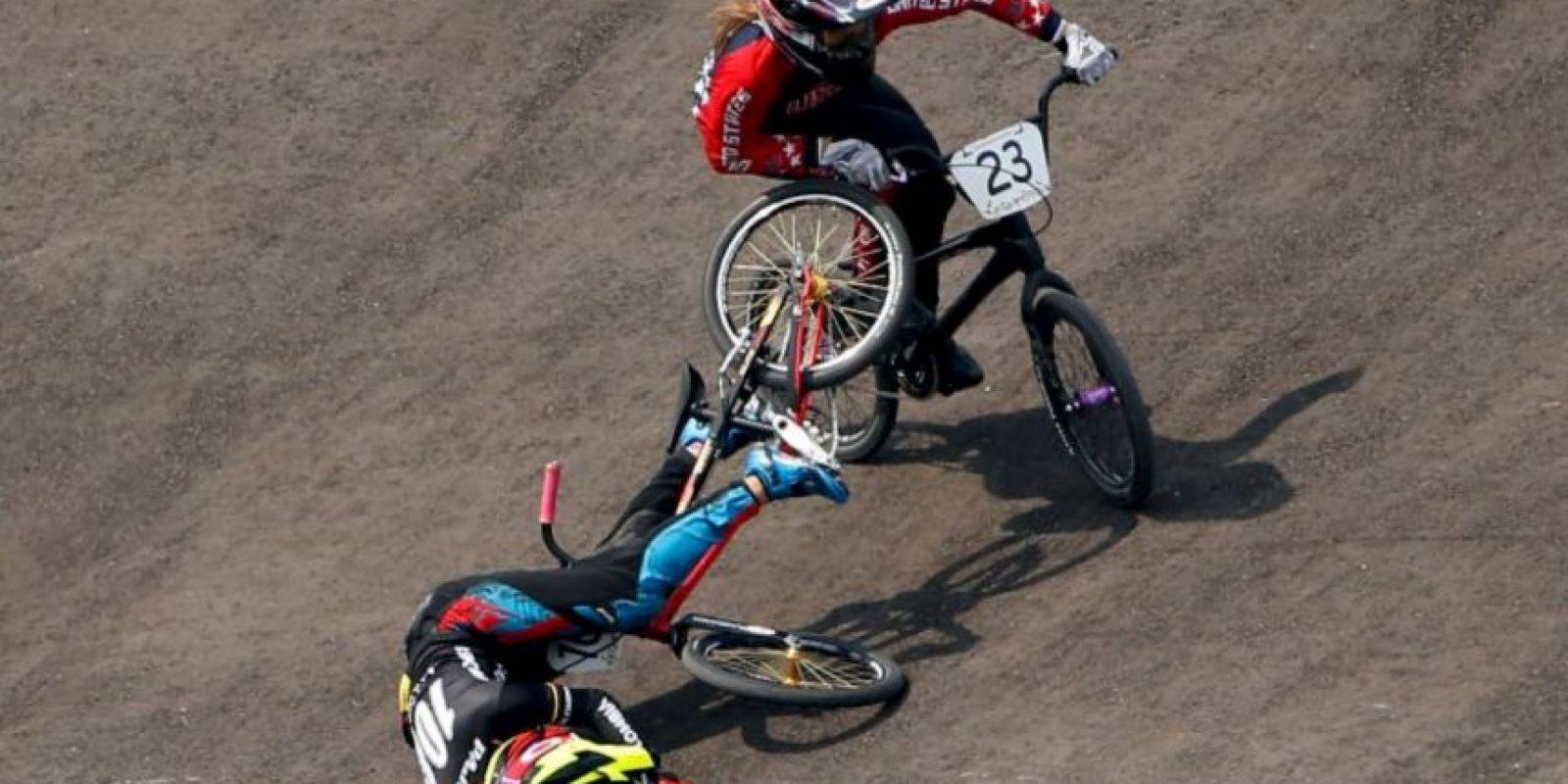 La caída de Mariana Pajón Foto:Getty Images