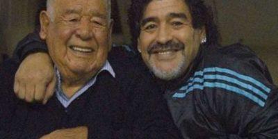 Don Diego, padre del Campeón del Mundo, falleció hace unos días. Foto:twitter.com/Futargentino