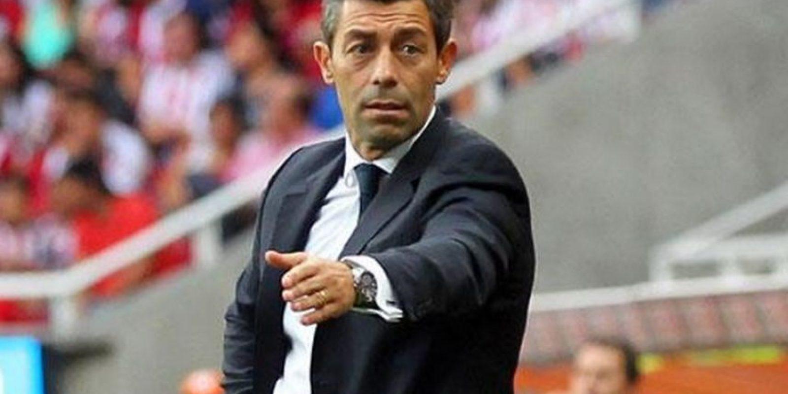 Pedro Caixinha, entrenador portugués del Santos de México. Foto:Twitter