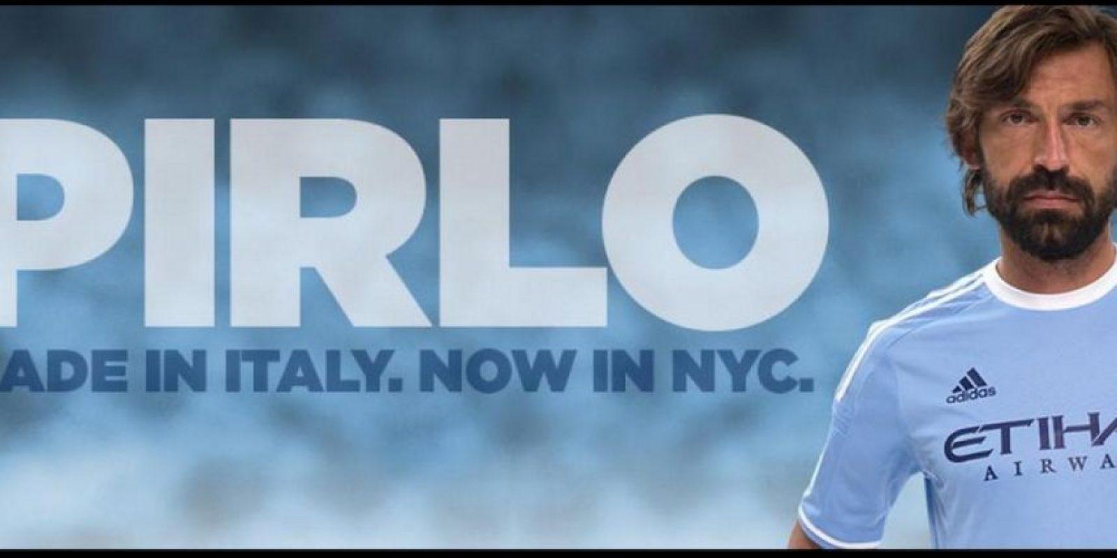 Pirlo ahora juega en el New York City F. C. Foto:twitter.com/NYCFC
