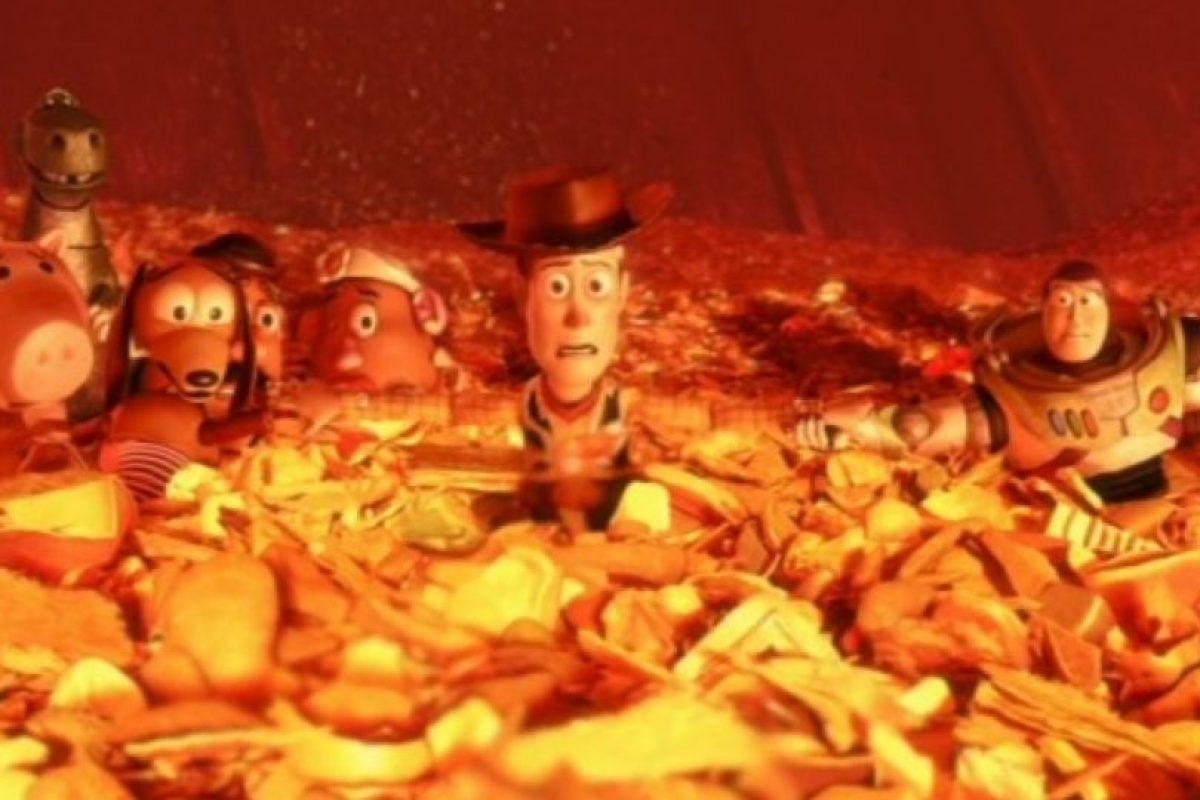 """5. Cuando los juguetes están a punto de morir en """"Toy Story 3"""". Foto:vía Disney/Pixar"""