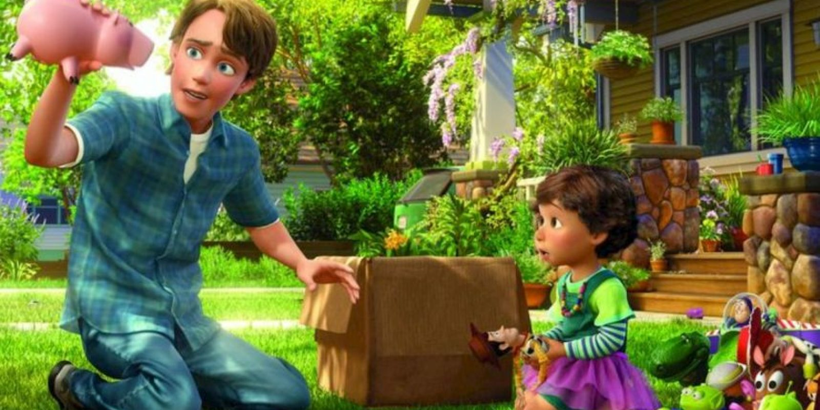 """Al final de """"Toy Story 3"""" le cuesta dejar a """"Woody"""", pero al ver a la niña no puede negarse. Así entrega todo su pasado a la pequeñita. Foto:vía Disney/Pixar"""