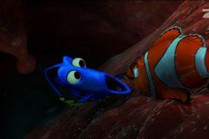 """8. Cuando """"Dory"""" le dice a """"Marlín"""" que confíe en """"Buscando a Nemo"""". Este, desesperado porque están dentro de una ballena, no puede más. Afirma que todo lo hizo para que no le pasara nada a su hijo. Pero Dory es sabia. Le dice: """"Si no quieres que nada le pase a Toribio, nada pasará con él"""". Foto:vía Disney/Pixar"""