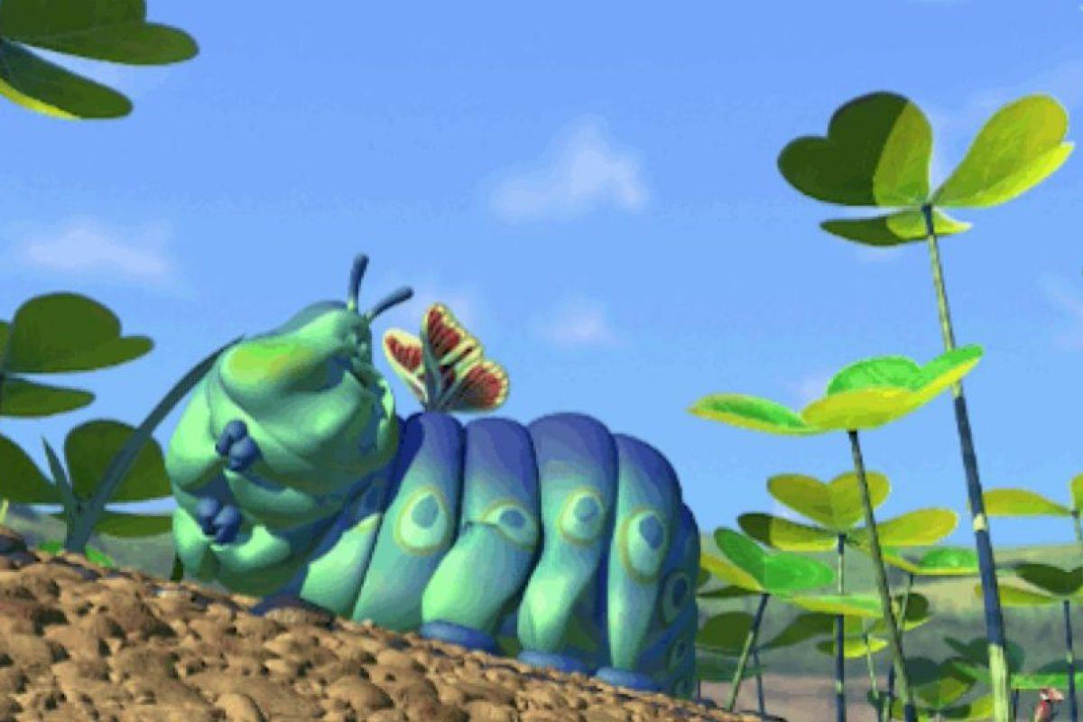 """10. Cuando el adorable """"Struddel"""", de """"Bichos"""", se convierte en mariposa. Foto:vía Disney/Pixar"""
